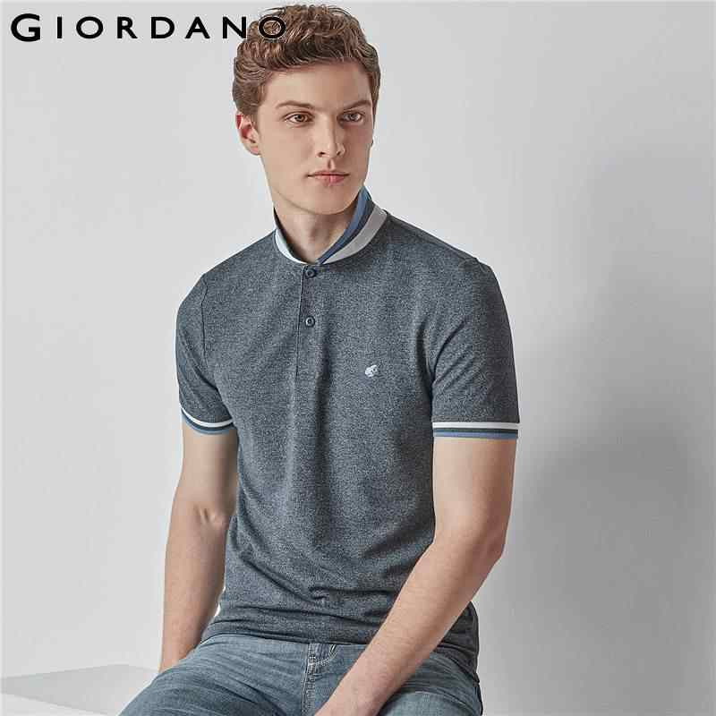 fa9c224899a4 Giordano Men Polo Shirt Short Sleeve Polo Men Summer Tops for Men Camisa  Polo Masculina Brand