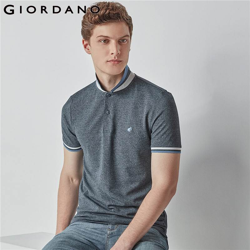 Giordano Men   Polo   Shirt Short Sleeve   Polo   Men Summer Tops for Men Camisa   Polo   Masculina Brand Tee Shirt Male