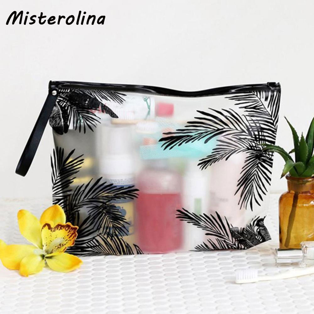 Travel Cosmetic Bags PVC Waterproof Transparent Women Portable Make Up Bag Toiletry Organizer Storage Makeup Bag Wash Pouch