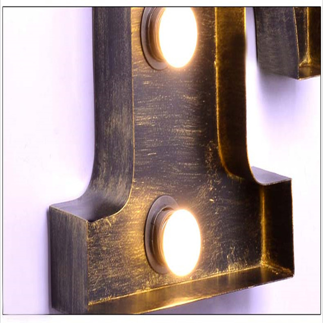 online shop fumat letters f wall lamps vintage art deco lamp project
