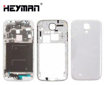 3b3fa3aad21 Para Samsung Galaxy S4 GT-I9500 i9500 frente medio marco trasero de la  vivienda bisel del marco volver caso de la cubierta de la puerta