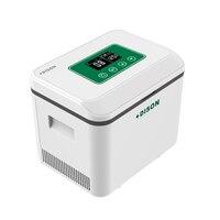 Dison батарея работает портативный холодиник для автомобиля охладитель коробка с плечом инсулин мини холодильник Nervera медицина геладира холо...
