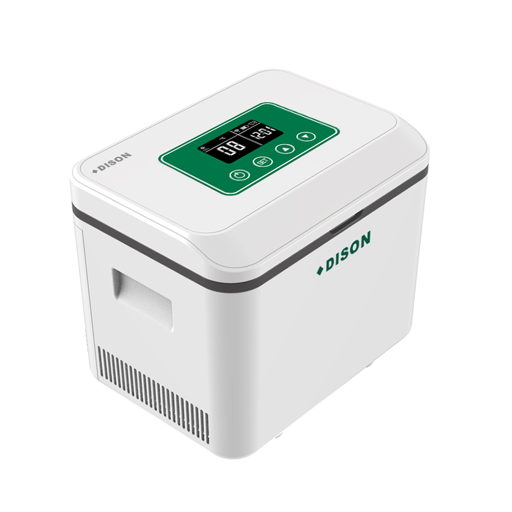 Dison Battery Operate Portable Car Fridge Cooler Box With Shoulder Insulin Mini Fridge Nervera Medicine Geladeira Refrigerator