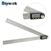DIYWORK Digital Angle Ruler 360 Degree Protractor 30cm 12 Inclinometer Goniometer Electronic Angle Gauge Stainless Steel