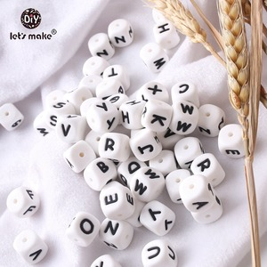 Image 5 - 100pc Silicone Alphabet Letter Beads Food Grade Silicone Chewing Beads Teething 26 Letters Silicone Letter Bead Baby Teether