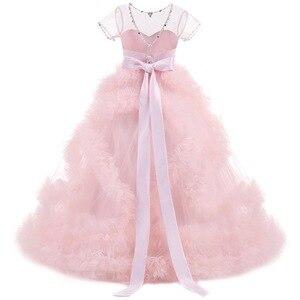 Image 5 - Mới Trẻ Em Trang Dạ hội sinh nhật costum bầu trẻ em dạ hội rước lễ lần đầu Đầm Dành cho bé gái