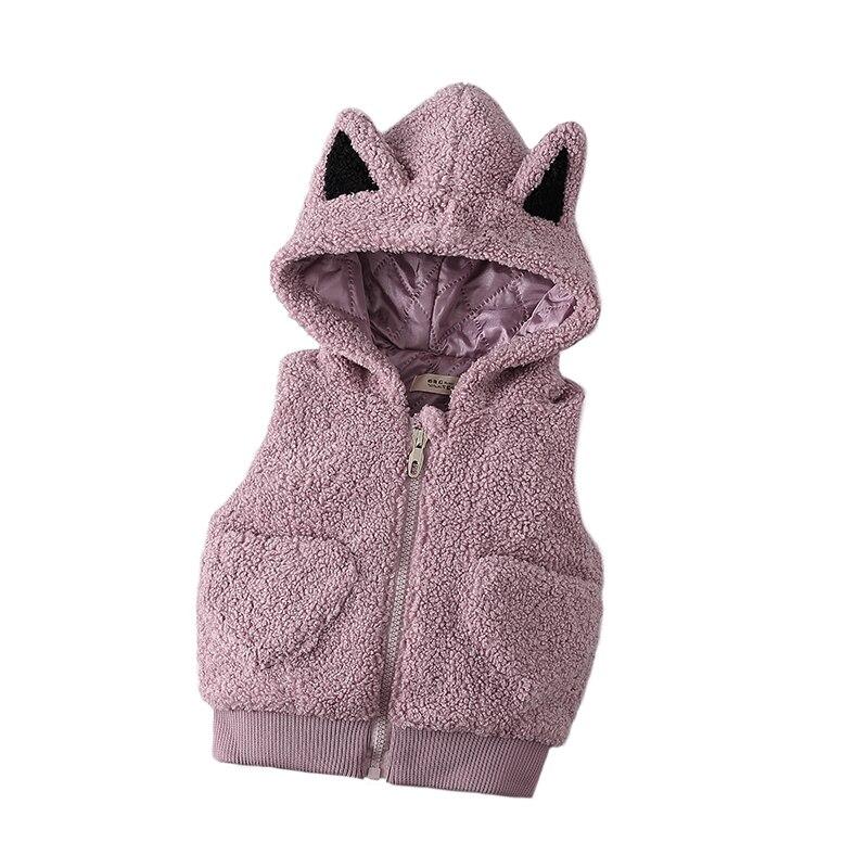 0-4 Jaar Baby Meisje Kleding Herfst Winter Solid Cartoon Kid Kinderen Meisje Kleding Jas Bovenkleding Wasitcoat Baby Meisje Vest