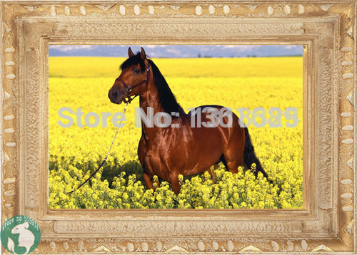 DIY Diamond Painting Animal Horse Brown Rhinestone Mosaic Picture On The Wall For Study Room Living Room Home Decor Cross Craft