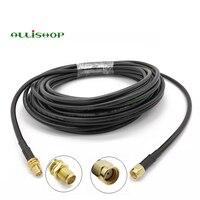 1-30 метров кабель Pigtail RP SMA штекер к RP SMA Гнездовой Разъем RG58 радиочастотная антенна Pigtail Перемычка адаптер удлинитель коаксиальный кабель