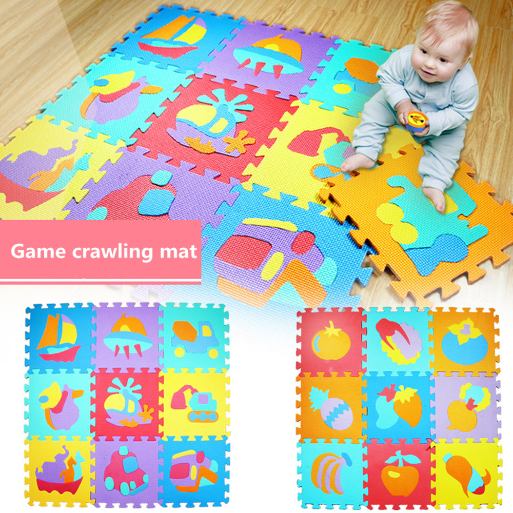 Children mini EVA Foam Trivial & Square Geometry Floor Soft Baby Mat 3d puzzle Kids Educational toys for children gift