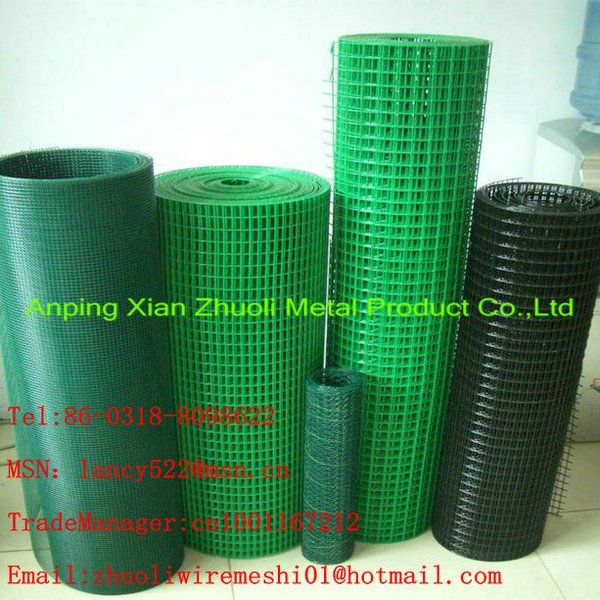 1 4 Inch Pvc Coated And Galvanized Welded Wire Mesh Fence