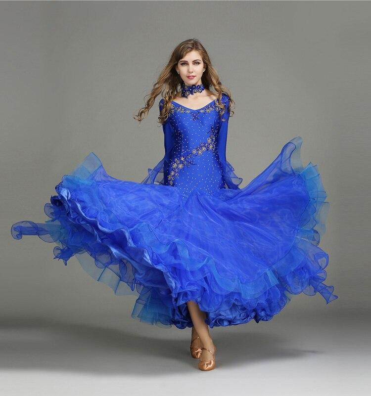 e29feb970d ... adulto competencia de baile vestido de baile. Cheap Estándar vestidos  de baile 2019 las nuevas mujeres de alta calidad de baile traje vals