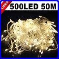 50 M 500 LED 9 Colores de La Boda de Vacaciones de Año Nuevo de Navidad Guirnalda de Navidad Decoración Al Aire Libre de Hadas de la Secuencia Luz De Navidad LED CN C-35
