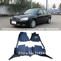 For Ford Mondeo 2004 2005 2006 Interior Leather Durable Waterproof Custom Car Floor Mats Carpets