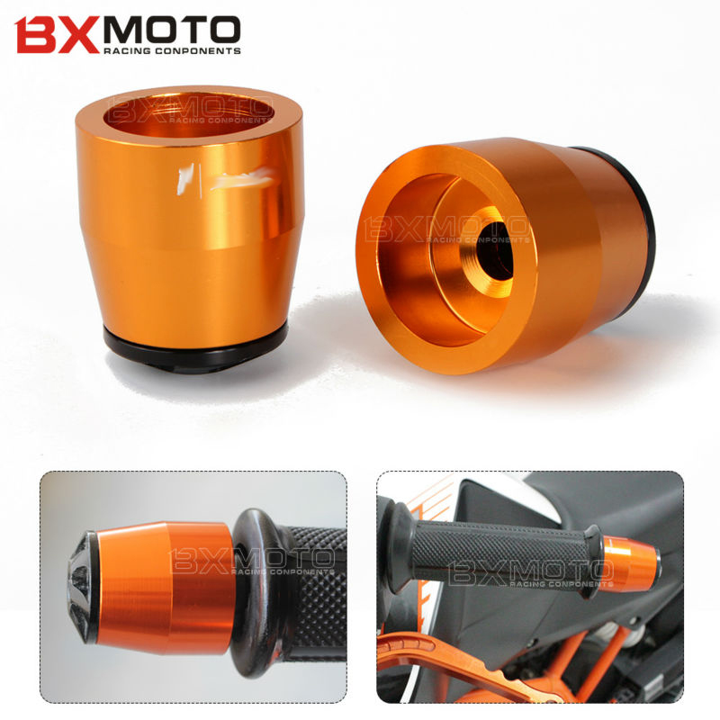 Accessories Motorcycle Cnc Handlebar Grips Handle Bar Ends plug Orange Anti Vibration For Ktm Duke 125 200 690 390 RC 2013-2016 motorcycle cnc balance bar for ktm 125 duke 200 duke 390 handle rebar handlebar modification parts accessories balance bar