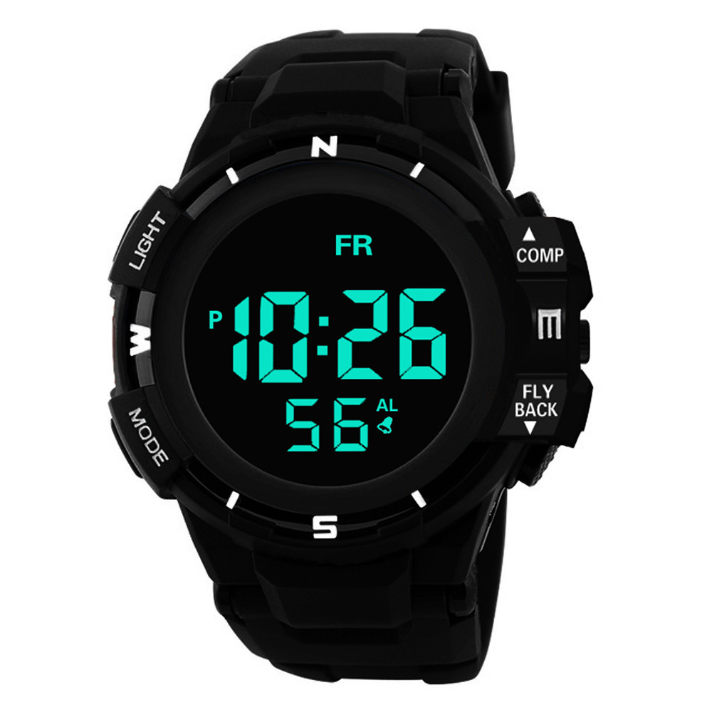 Watches Relogio Masculino Mens Sport Watch Famous Brand Fshion Led Digital Watches Date Alarm Waterproof Sports Armywatch Dropshipping Digital Watches