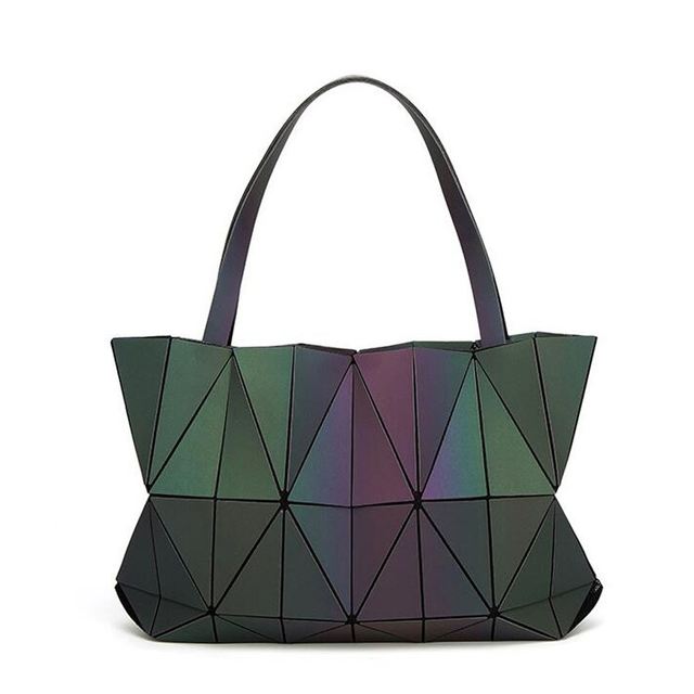 Luxury Handbags Women Bags Designer Luminous Tote Obag Bolsas Victor Hugo Hologram Shoulder Bag Folding