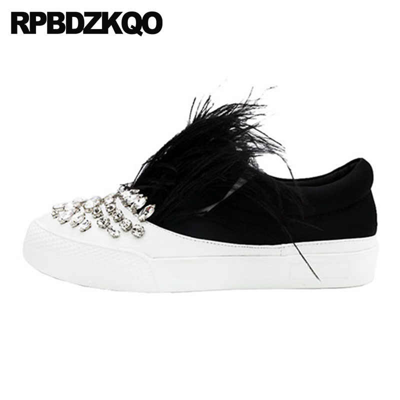 Crystal Trainers Designer Shoes China Fur Women Black Rhinestone Chinese  Diamond Luxury Genuine Leather Flats Round c4b9ab07bf67