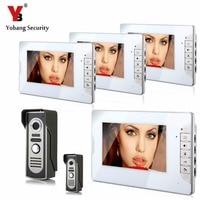 YobangSecurity Video Intercom 7 Inch Monitor Wired Video Door Phone Doorbell Home Security Camera Monitor Kit
