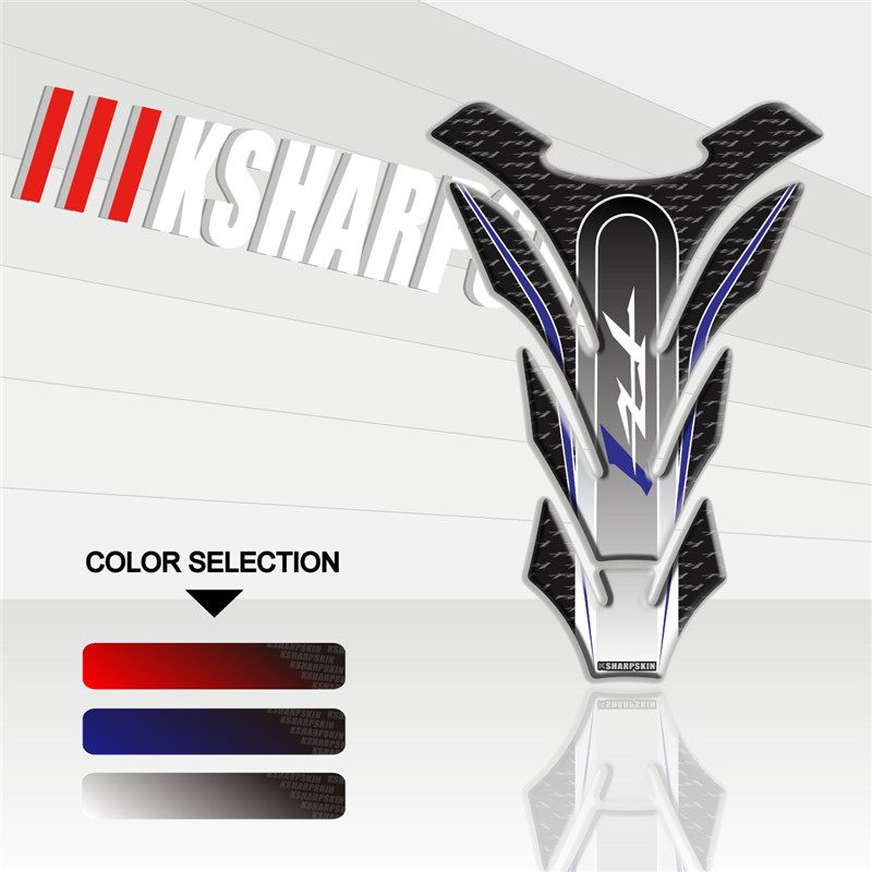 New 3D Motorcycle Gas Fuel Oil Tank Pad <font><b>stickers</b></font> protective decorative decals For YAMAHA FZ1 <font><b>FZ</b></font> Fishbone <font><b>sticker</b></font> image