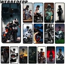 WEBBEDEPP Classic Motorcycle Soft TPU Case for Huawei Y6 Y7 Prime Y9 Mate 10 20 Lite Pro Nova 2i 3i 4