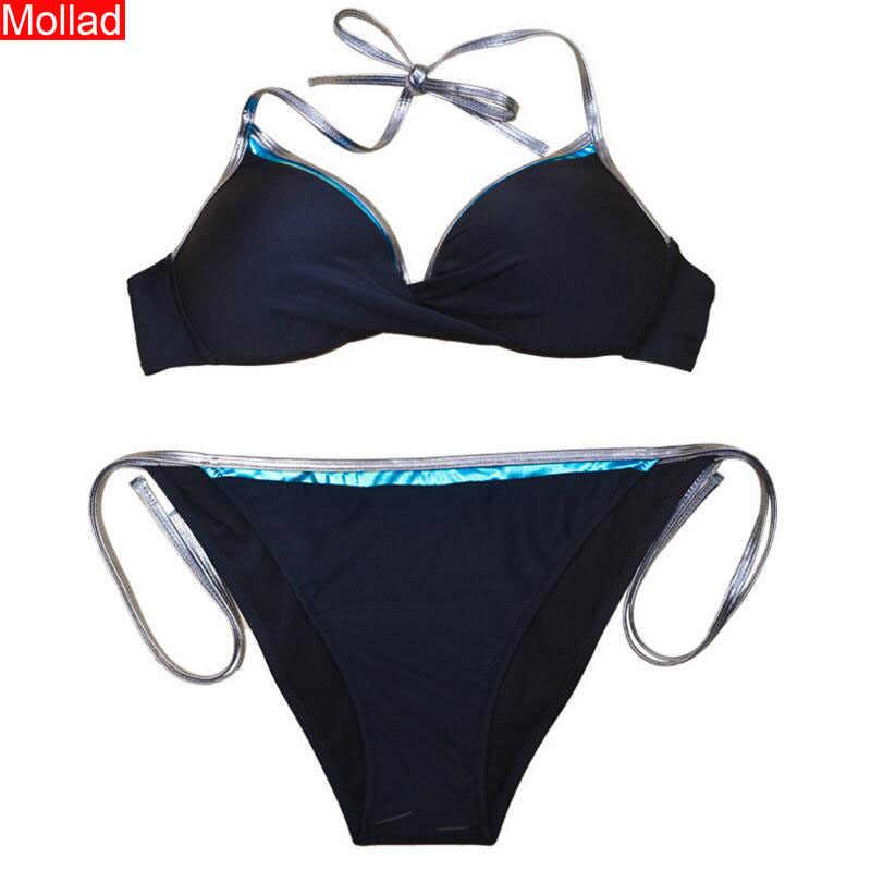 Vrouwen Sexy Solid Coloro Bikini Set Vrouwelijke Badpak Zomer Badpak
