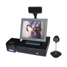 Cheap 15 inch touch screen pos system all in one pc Suitable for restaurant pos system Sales terminal cash register
