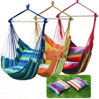 Swinging Hanging Chair Hammock Thick Canvas Hammock Outdoor Camping Chair Dormitory 2pillows