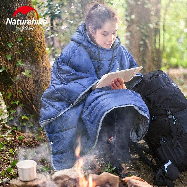 Naturehike Outdoor Camping Sleeping Bag Waterproof Cloak Lazy Sleeping Bag Winter Thermal Portable Camping Cloak NH18D010-P