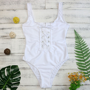 Bandage One Piece Strappy Monokini 1