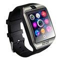 Reloj con cámara bluetooth smart watch q18 facebooks twitter smartwatch apoyo tf tarjeta sim para apple ios android teléfono 18650