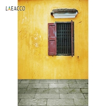 Laeacco Retro Brick Wall Window Backdrop Portrait Photography Backgrounds Customized Photographic Backdrops For Photo Studio