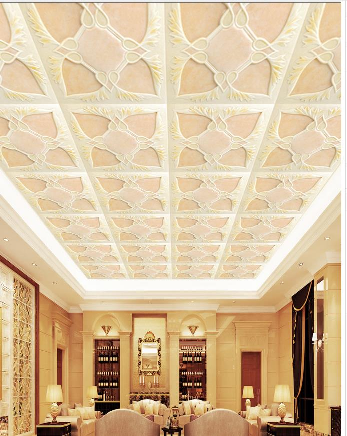 Buy relief ceiling frescoes custom 3d for Ceiling mural wallpaper