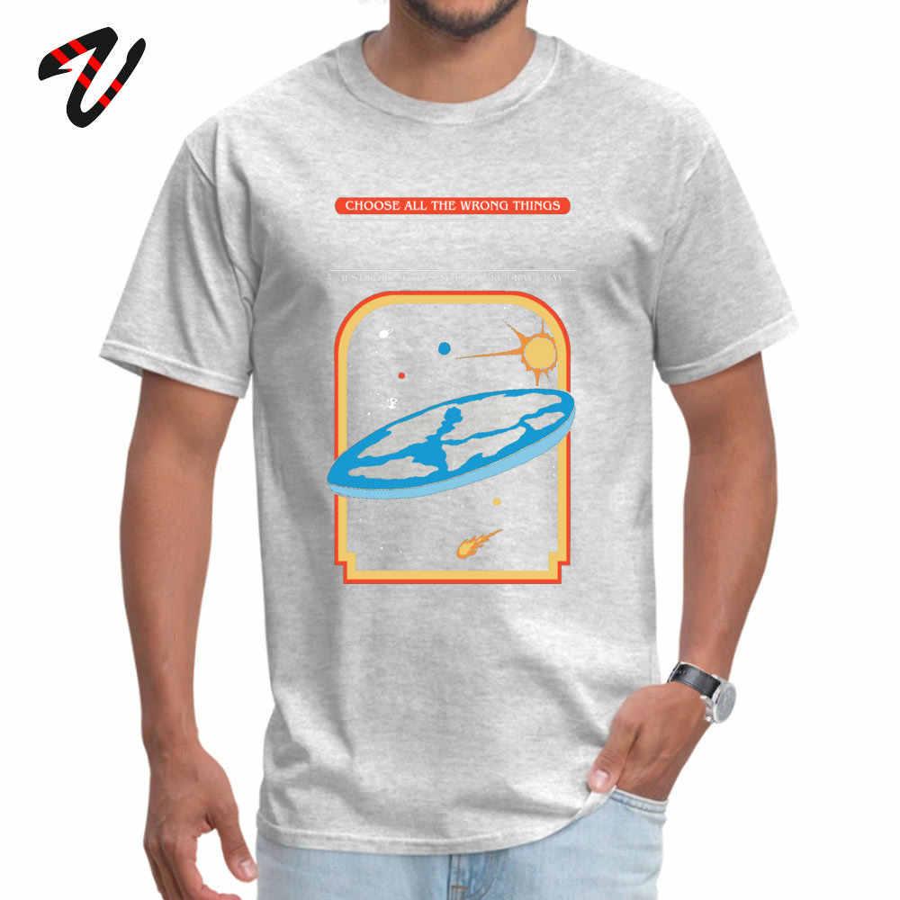 オタク男性トップス tシャツ地球はフラットクーポンファッショナブルなトップス tシャツ o ネック愛好家の日パンクジャズスリーブ tシャツ