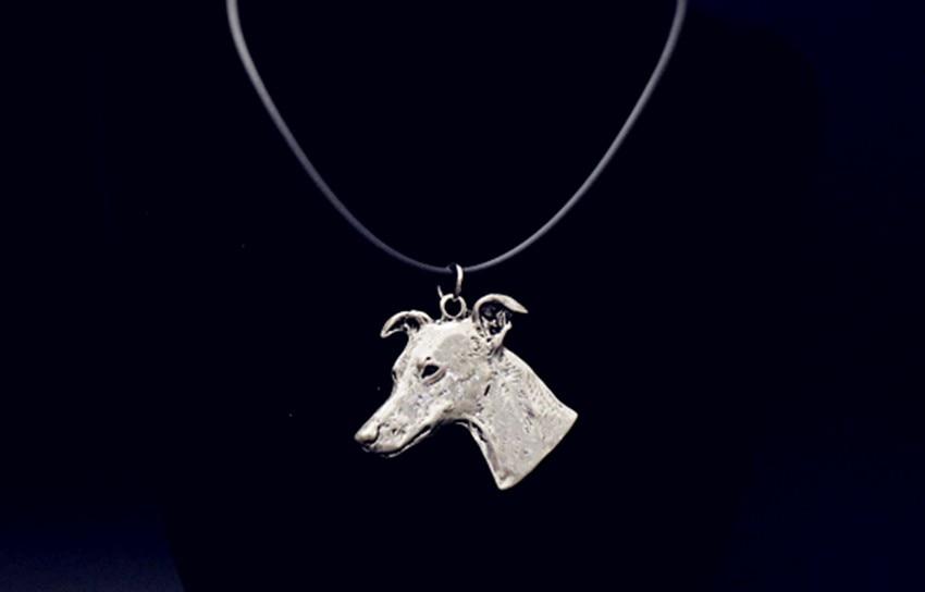 Whippet cão colar colar Artesanal Em Relevo pingente jóias de Prata/ouro cores banhado a entrega rápida