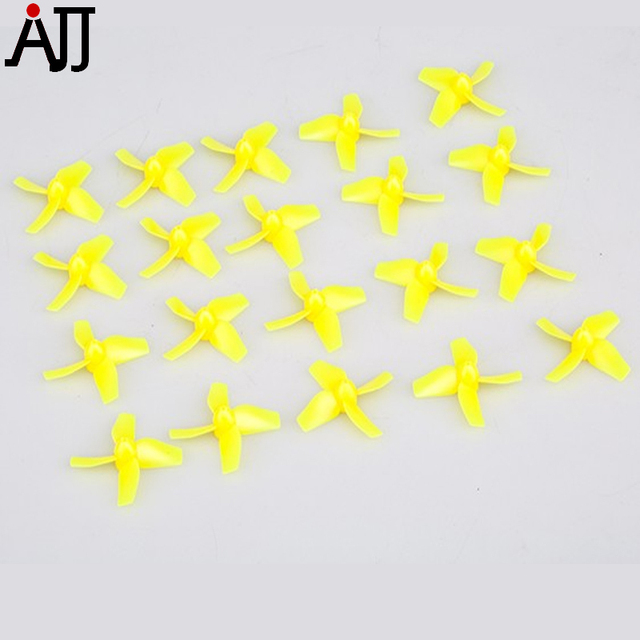 10pairs TinyBee Replacment Propeller 4-Blades Micro Props Yellow TWing01 for TinyBee FPV Racing Camera Drone