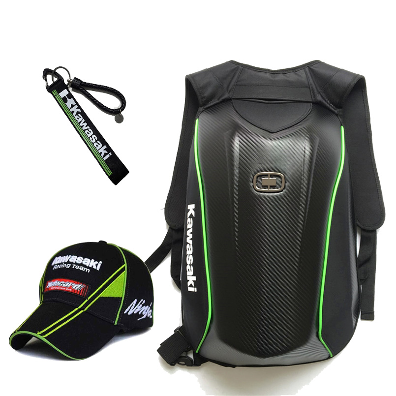 MotoGP Étanche Moto casque sac pour yamaha kawasaki sac à dos Motocross Racing DH ninja chapeau avec porte-clés En Fiber De Carbone