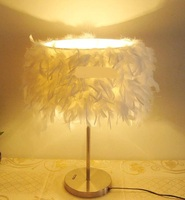 NEW table Lamps Feather Lamp living room lamp bedroom lamp Romantic Warmer Fashion beautiful Table lights ZL333
