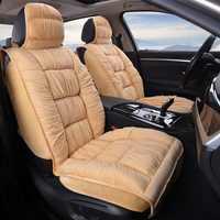 Cubierta de asiento de coche caliente Universal de felpa de invierno Material de piel sintética para el asiento del coche Mat accesorios interiores del coche
