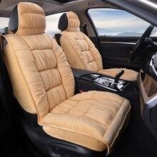 Quente Universal Tampa de Assento Do Carro do Inverno Almofada de Pelúcia Material De Peles artificiais Para Protetor de Assento de Carro Tapete Do Carro Acessórios Interiores