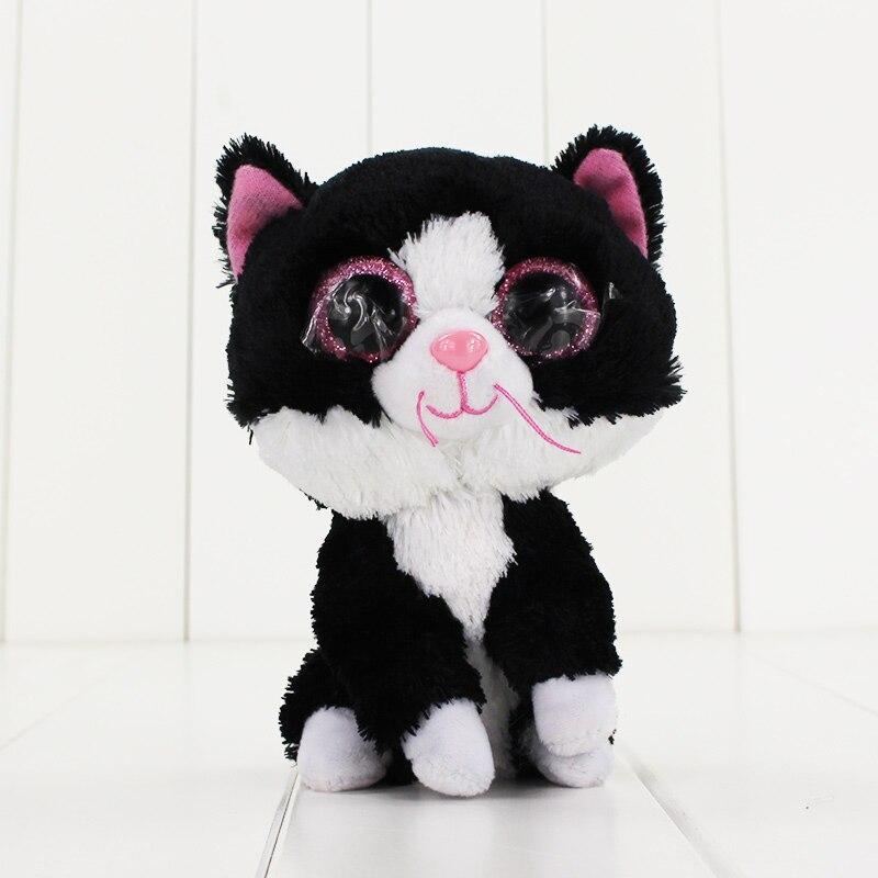 15 см Ty Beanie Боос большие Средства ухода для век плюшевые игрушки куклы Черный кот ty подарок для маленьких детей Коллекция Мягкие плюшевые игр...