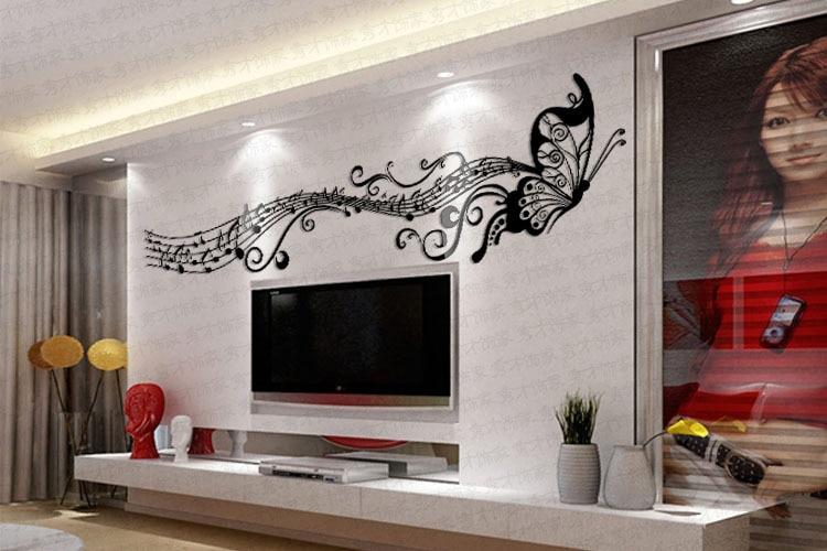 gros ikea style cristal papillon fantaisie en trois dimensions sticker mural decoration murale papier peint decoration de la maison