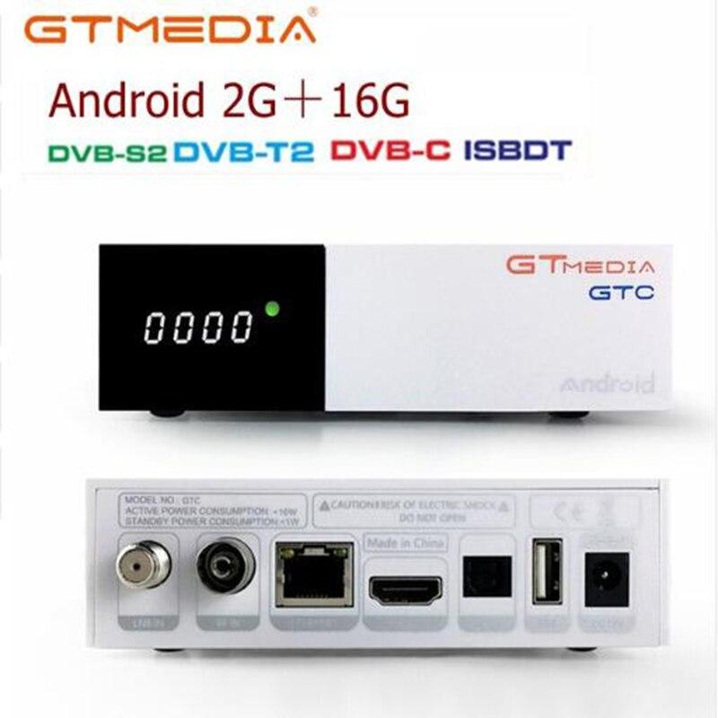 Freesat/GTmedia GTC Satellite Receiver DVB-T2/S2/Cable ISDBT Android 6.0 2GB 16GB +1 Year IPTV/cccam Decoder PK X96MIMI TV BOX
