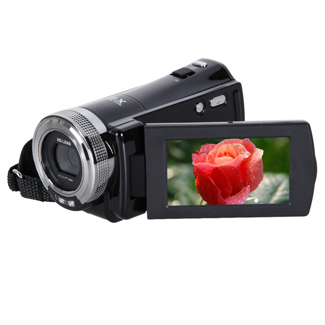 16MP 2.7 inch 270 Rotation Rechargeable LCD Camera Automatic Digital Video Recording Camcorder Full HD 16x Zoom DV Camera