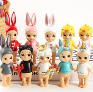 Mini Doll Sonny Angel Devil Cupid PVC Animal Horse Unicorn Duck Action Figures Cake Toppers Kids Toys Cute Decoration Automobile(China)