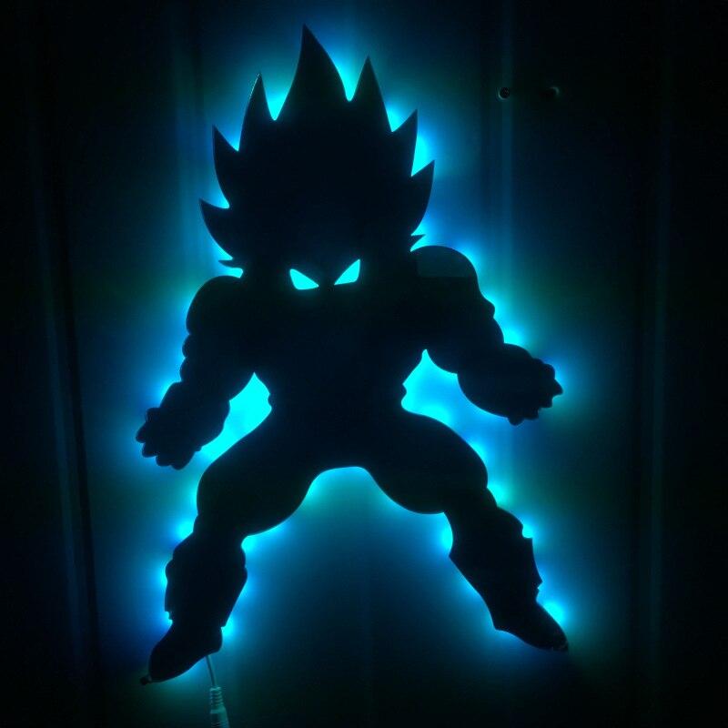 Dragon ball 3D Led Wandleuchte Nachtlicht Vegeta Kreative Action - Nachtlichter - Foto 2