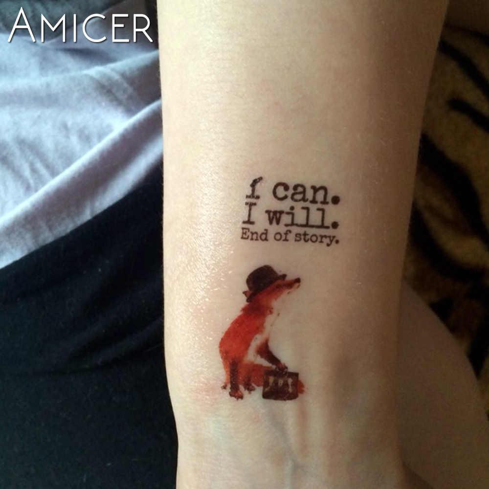 Cavalo fox lobo à prova d' água etiqueta Do Tatuagem Temporária de Transferência de Água tatuagem falsa tatuagem do flash do tatuagem para mulheres dos homens