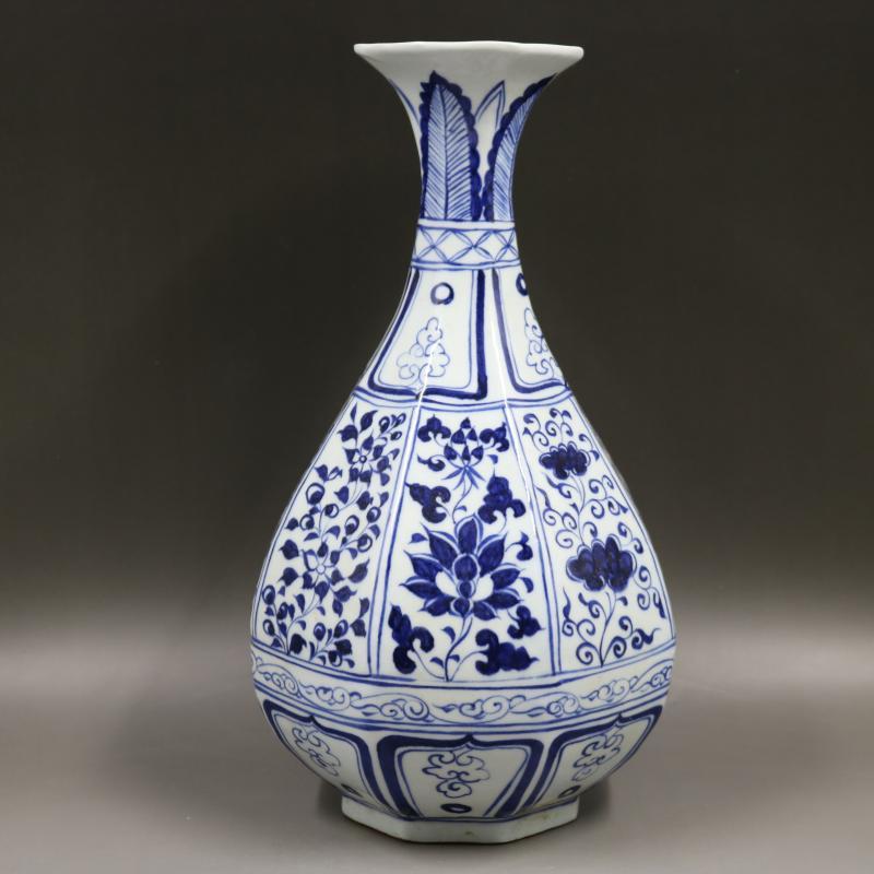 Vase Antique en porcelaine yuandynplastie, huit bouteilles carrées, artisanat fait main, collection/parure, décorations pour la maison, livraison gratuite