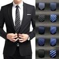 New Men Slim laço da gravata festa de casamento clássico tecido Jacquard Plain Silk Skinny
