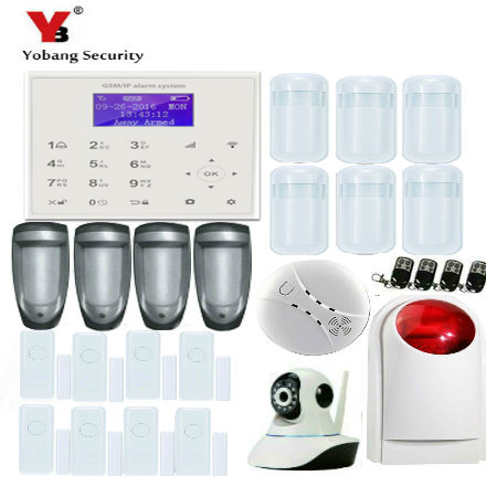 YobangSecurity GSM WIFI GPRS Wireless Home Business Security Alarm System with Wireless IP Camera Smoke Fire Dual Motion Sensor yobangsecurity gsm wifi gprs wireless home business security alarm system with wireless ip camera smoke fire dual motion sensor